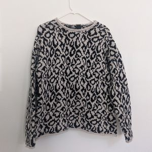 Magaschoni Long Sleeve Jacquard Pullover Sweater